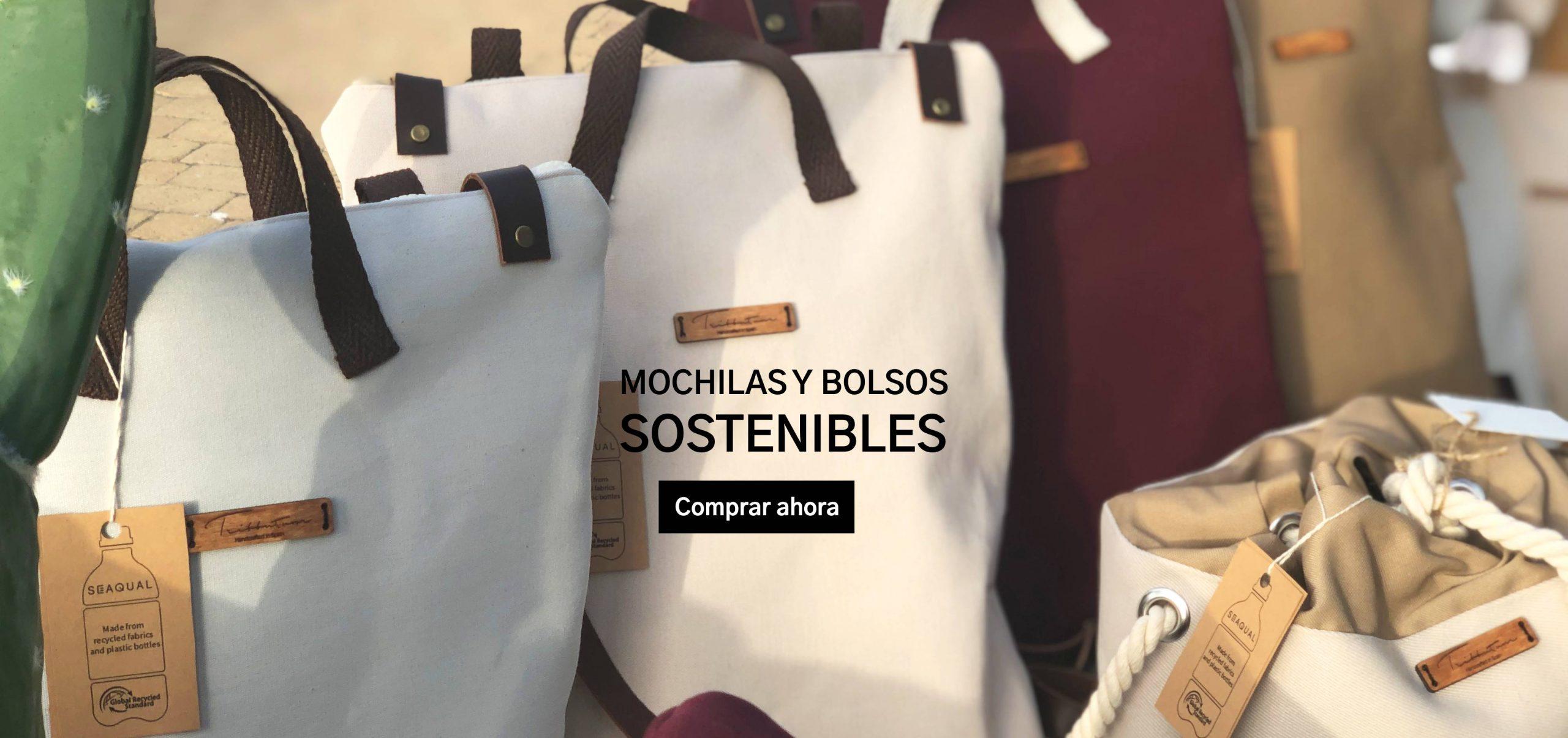 Banner mochilas y bolsos reciclados sostenibles